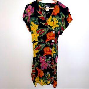 VINTAGE 90s dawn joy rayon dress